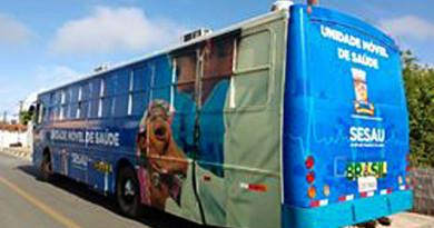 Ônibus da Saúde realiza atendimentos durante toda semana