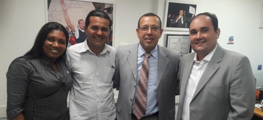 Radiovaldo Costa e Gustavo Carmo garantem apoios do deputado estadual Soldado Prisco e do deputado federal Félix Mendonça