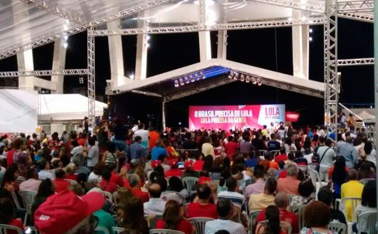 Lula chega na Arena Fonte Nova e dá início a evento