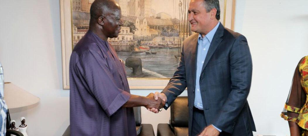 Governador Rui Costa recebe a visita do rei da nação Ashanti