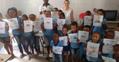 Programa de Saúde na Escola realiza ação de combate à dengue nas escolas municipais