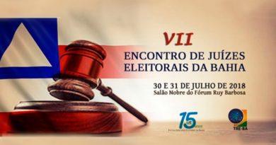 Promovido pelo TRE-BA, VII Encontro de Juízes Eleitorais acontece nos dias 30 e 31 de julho