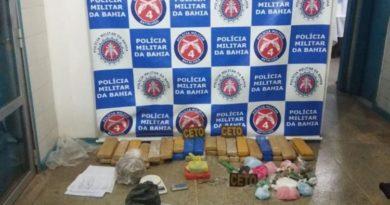Mulher é presa com drogas avaliadas em R$ 1 milhão em Alagoinhas
