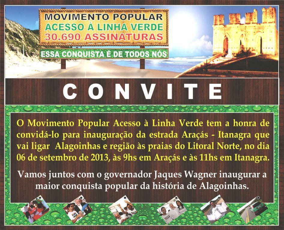 CONVITE MOVIMENTO LINHA VERDE