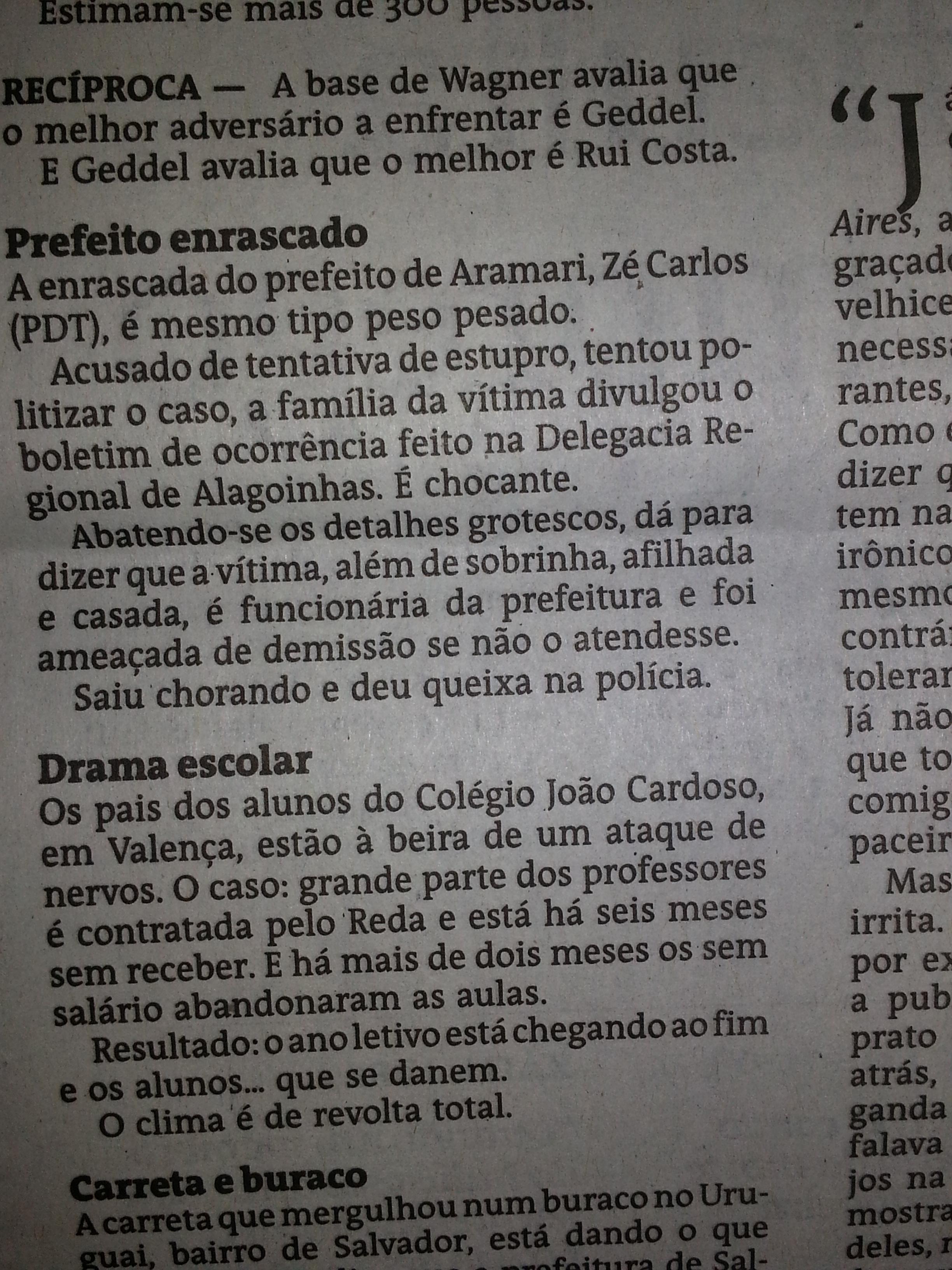 COLUNA TEMPO PRESENTE 12 DE OUTUBRO DE 2013