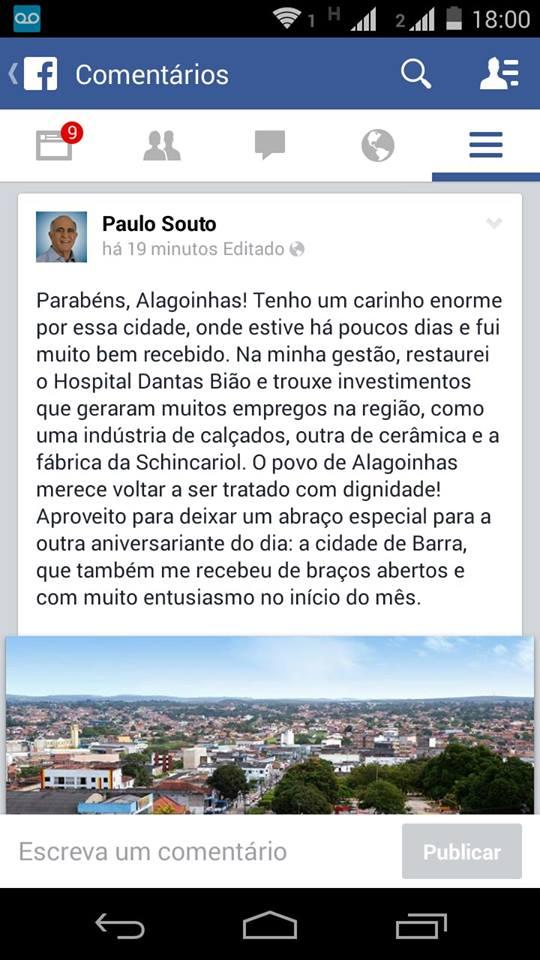 FACEBOOK PAULO SOUTO