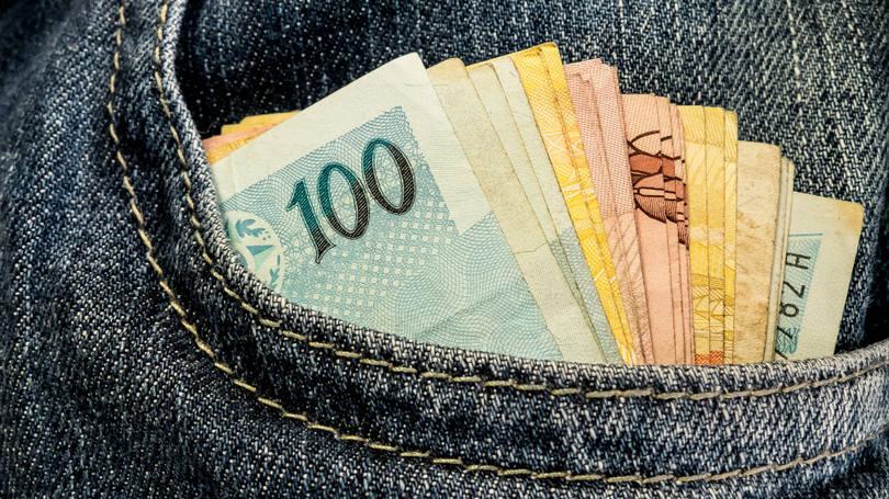 Dinheiro no bolso