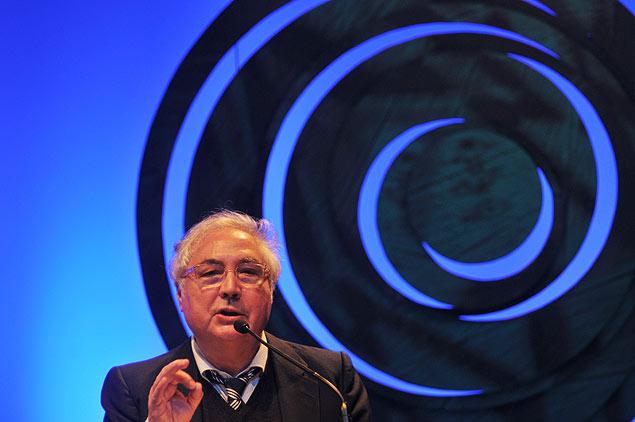 O sociólogo espanhol Manuel Castells durante palestra em São Pauo, em 2013