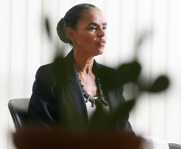 A ex-senadora Marina Silva fala em entrevista exclusiva à *Folha* sobre a adesão ao PSB