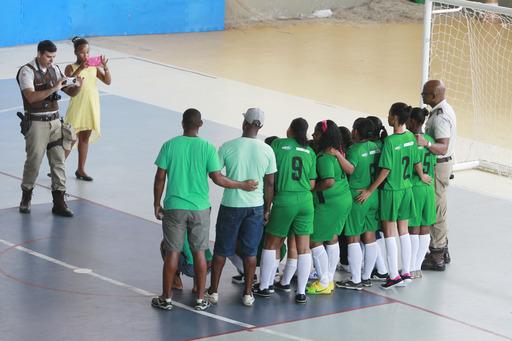 Projeto na Base do Esporte - Futebol Feminino Ginasio do SESI de Simões Filho Foto: Elói Corrêa/GOVBA