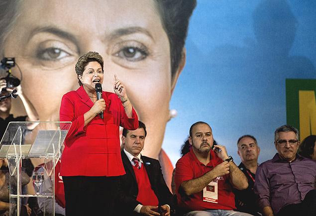 A presidente Dilma participa de evento da CUT com Alexandre Padilha, em Guarulhos