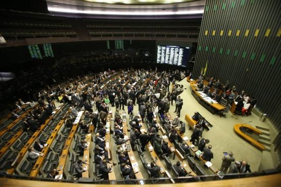 Sessão da Câmara que votoua reforma política