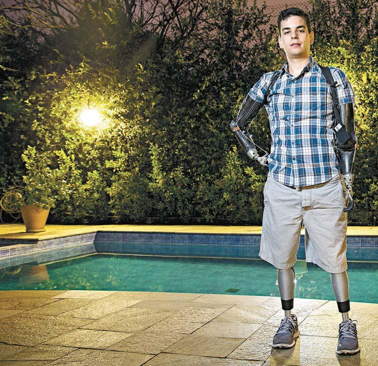 O estudante Pedro Pimenta,23, durante passagem por São Paulo