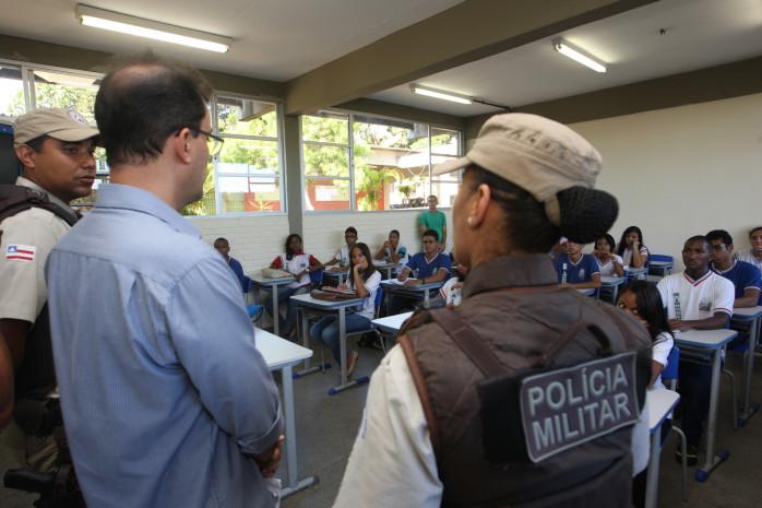 Ronda Escolar da PM nas Escolas Foto: Elói Corrêa/GOVBA